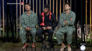 Peões formaram a oitava roça do reality show A Fazenda 2019