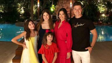 Rodrigo Faro e sua família