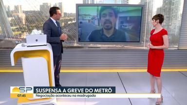 Rodrigo Bocardi entrevista o coordenador do Sindicato dos Metroviários de São Paulo