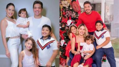 Wesley Safadão posa com a família no Natal