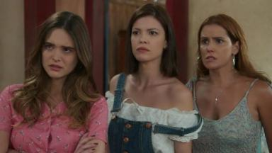 Juliana Paiva, Vitória Strada e Deborah Secco em cena da novela Salve-se Quem Puder, da Globo