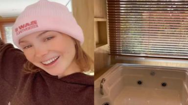 Montagem de Sammy mostrando a banheira de hidromassagem