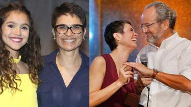Montagem de Sandra Annemberg no Globo Repórter, como atriz e como repórter