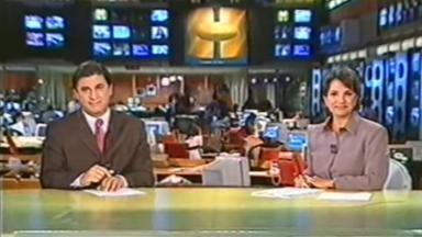 Sandra Annenberg e Carlos Nascimento no Jornal Hoje