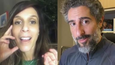 Sarah Oliveira e Marcos Mion