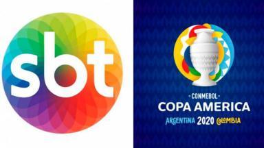 Logo SBT e Copa América 2021