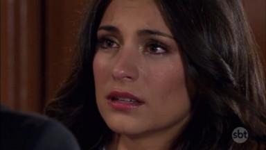 Cena de Coração Indomável com Maricruz chorando