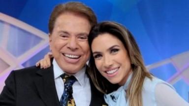 Patrícia Abravanel abraçada com Silvio Santos