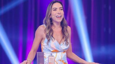 Patrícia Abravanel no palco do Roda a Roda