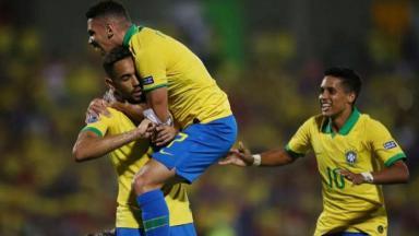 Jogadores da seleção brasileira Olímpica de futebol