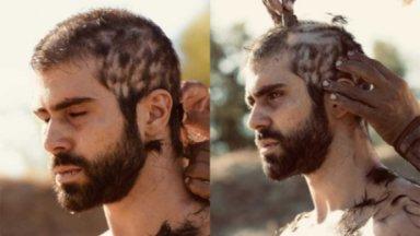 José chorando, tendo seus cabelos raspados