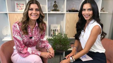 Fabiana Scaranzi e Daniela Albuquerque durante o Sensacional