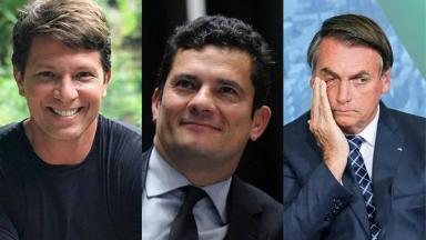 Mário Frias, Jair Bolsonaro e Sergio Moro