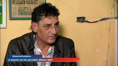 Sérgio Neri, ex-goleiro do Guarani, durante entrevista ao Esporte Fantástico, da Record