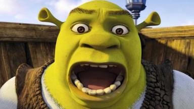 Shrek com o bocão aberto