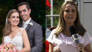 Silvana Ramiro e seu marido no casamento (à esquerda) e Silvana Ramiro na praia (à direita)