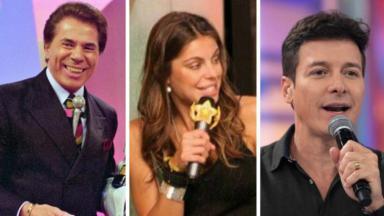 Silvio Santos, Daniela Cicarelli e Rodrigo Faro