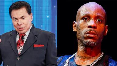 Silvio Santos (à esquerda) e o rapper DMX (à direita) em foto montagem