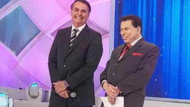 Silvio Santos e Jair Bolsonaro