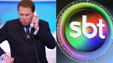 Logotipo do SBT em 1997 e Silvio Santos