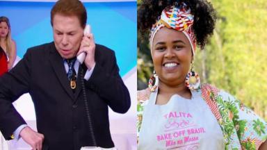 Silvio Santos e Talita