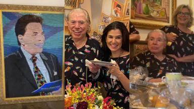 Silvio Santos comemora 90 anos ao lado da família