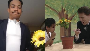 Luis Sales, o menino fã do Raça Negra, relembra meme com Silvio Santos