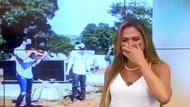 Silvye Alves chorando