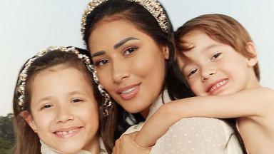 Simaria ao lado dos filhos, Giovanna e Pawel