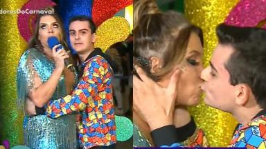 Cantora e apresentador do SBT protagonizaram momento polêmico ao vivo