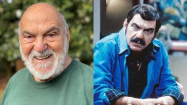 À esquerda, Lima Duarte, aos 91 anos; à direita, o ator em cena de Roque Santeiro como Sinhozinho Malta