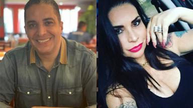 Waguinho e Solange Gomes em montagem