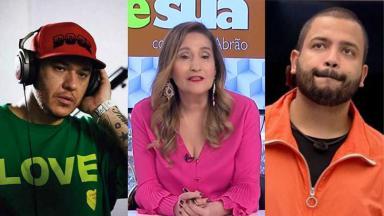 Sônia Abrão, Chorão e Projota em foto montagem