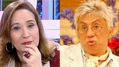 Sonia Abrão durante A Tarde a Sua; Clodovil durante programa