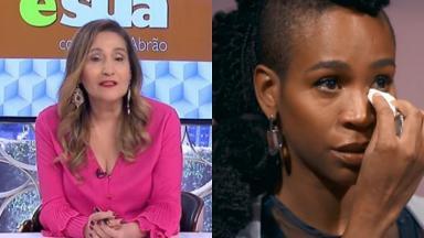 Sônia Abrão (à esquerda) e Karol Conká (à direita) em foto montagem