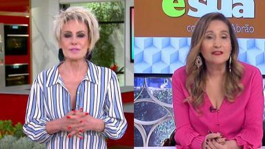 Ana Maria Braga (à esquerda) e Sônia Abrão (à direita) em foto montagem