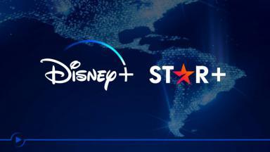 Logo da Star e Disney+