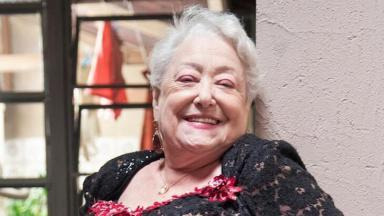 Suely Franco nos bastidores da novela A Dona do Pedaço, da Globo