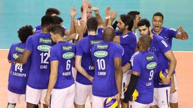 Jogadores de vôlei do Cruzeiro