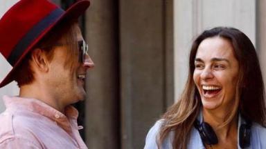 Paulo Gustavo e Susana Martelli rindo