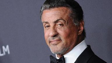 Sylvester Stallone posado para foto
