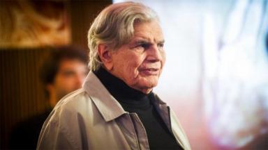 O ator Tarcísio Meira em cena na novela A Lei do Amor