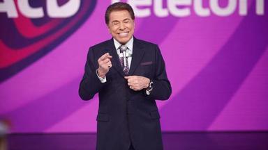 Silvio Santos numa edição do Teleton