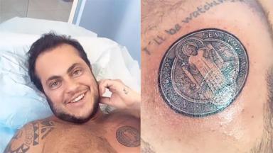 Thammy e sua nova tatuagem