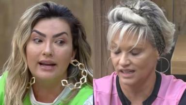 Thayse discutiu com Andréa Nóbrega no reality show A Fazenda 2019