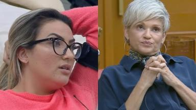 Thayse Teixeira não está gostando da forma como tem sido tratada por Andréa Nóbrega em A Fazenda 2019
