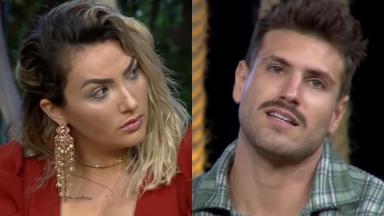 Thayse Teixeira e Guilherme Leão durante o reality show A Fazenda 2019