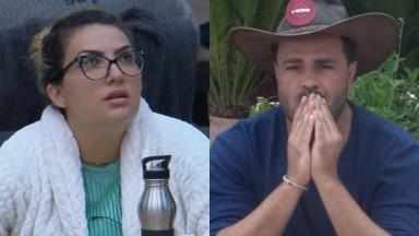 Peão não poupou críticas contra a loira no reality show A Fazenda 2019