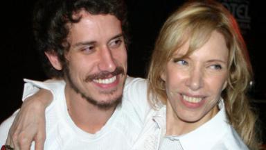 Marília Gabriela e filho