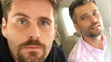 Thiago Gagliasso e Bruno Gagliasso no avião